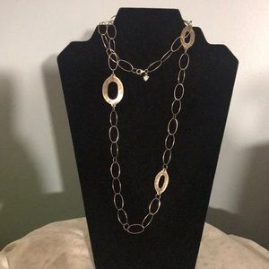 Silpada Hammered Sterling link Chain Necklace 35""